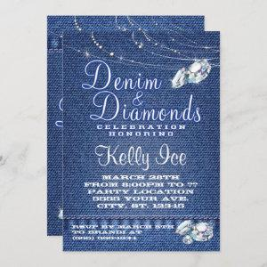 Denim and Diamonds Party Invitations starting at 2.66