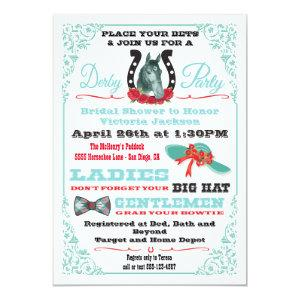 Derby Horse Racing Bridal Shower invitations starting at 2.82