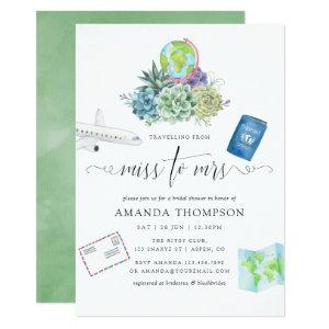 Desert Cactus Succulents Miss To Mrs Bridal Shower Invitation starting at 2.66