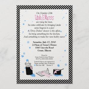 'Dirty Dishes' Bridal Shower Invitation starting at 4.40