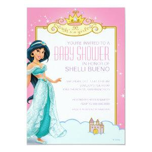 Disney Princess Jasmine It's a Girl Baby Shower Invitation starting at 2.66