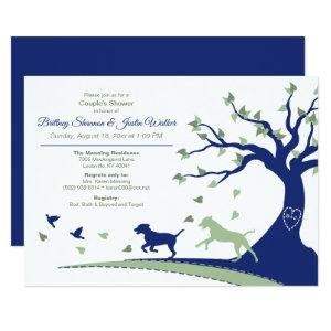 Dogs Chasing Birds Couple's Shower Invitation starting at 2.51