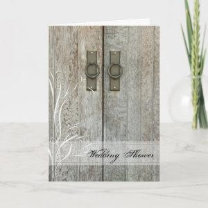 Double Barn Door Country Wedding Shower Invitation starting at 3.55