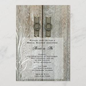 Double Barn Doors Country Bridal Shower Invitation starting at 2.60