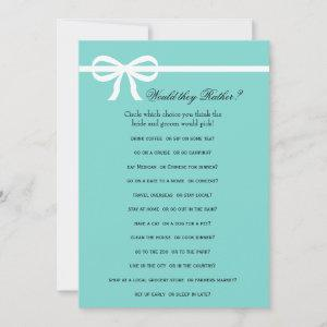 Double Side Aqua & Bows Bridal Shower Games starting at 2.46