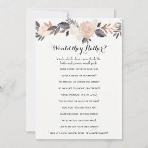 Double Side Bridal Shower Games- Groom Say| Rather starting at 2.56