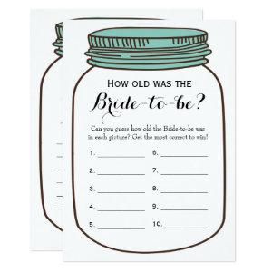 Double Side - Bridal Shower Games How Old | Advice Invitation starting at 2.66
