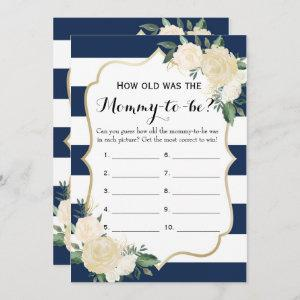 Double Side Floral Navy Baby Shower Games Invitation starting at 2.66