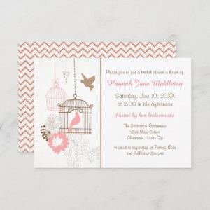 Doves & Cages - 3x5 Bridal Shower Invitation starting at 1.95