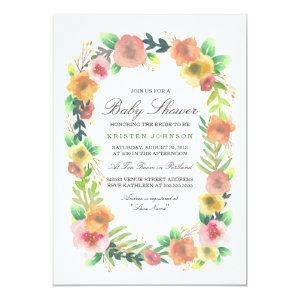 Dreamy Floral Baby Shower Invitation starting at 2.51