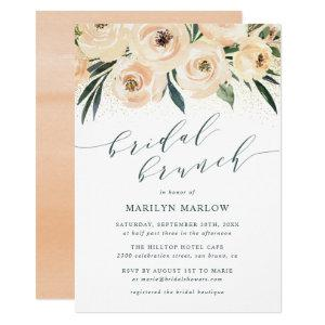 Dreamy Sea Rose Gold Glitter Bridal Shower Brunch Invitation starting at 2.00