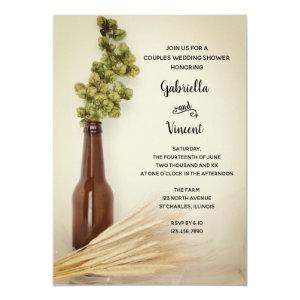 Dried Hops Wheat Brewery Couples Wedding Shower Invitation starting at 2.60