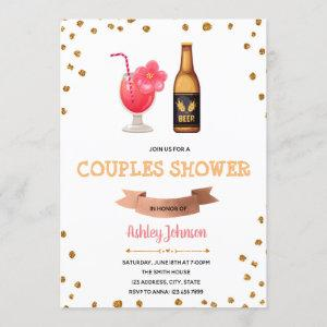 Drinks couples shower invitation starting at 2.50