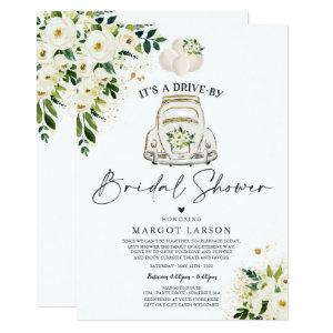Drive By Bridal Shower Invitation White Floral starting at 2.31