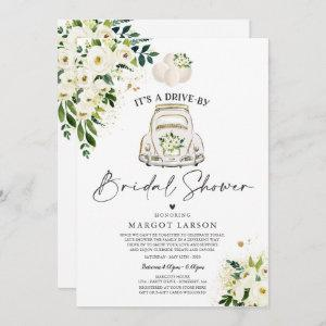 Drive By Bridal Shower Invitation White Floral starting at 2.61