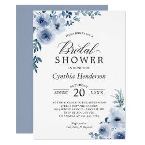 Dusty Blue Bohemian Floral Bridal Shower Invitation starting at 2.10
