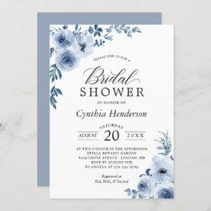 Dusty Blue Bohemian Floral Bridal Shower Invitation starting at 2.30