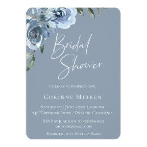 Dusty Blue Botanical Bridal Shower Invitation starting at 2.71