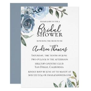 Dusty Blue Botanical Bridal Shower Invitation starting at 2.15