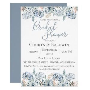 Dusty Blue Botanical Bridal Shower Invitation starting at 2.40