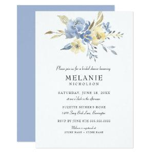 Dusty Blue Cream Floral Bridal Shower Invitation starting at 2.51