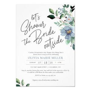 Dusty Blue Drive By Bridal Shower Invitation starting at 2.25
