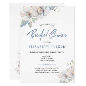 Dusty blue elegant floral watercolor bridal shower invitation starting at 2.20