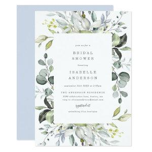 Dusty Blue Florals Bridal Shower Invitation starting at 2.26