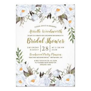 Dusty Blue Gold Vintage Bridal Shower Invitations starting at 2.00