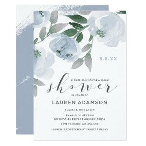 Dusty Blue & Gray Watercolor Bridal Shower Invitation starting at 2.26