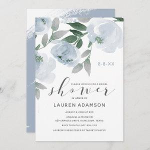 Dusty Blue & Gray Watercolor Bridal Shower Invitation starting at 2.51