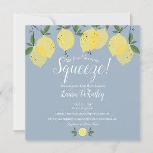 Dusty Blue Main Squeeze Lemons Bridal Shower Invitation starting at 2.41