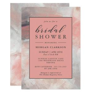 Dusty Coral Modern Abstract Bridal Shower Invitation starting at 2.51