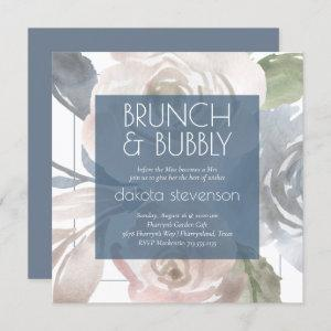 Dusty Floral | Smoky Pastel Bubbly Brunch Shower Invitation starting at 2.30
