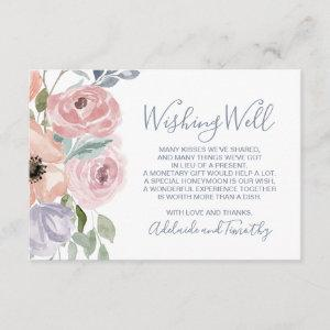 Dusty Rose Florals Wedding Wishing Well Enclosure Card starting at 1.91