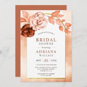 Earthy Watercolor Floral Terracotta Bridal Shower starting at 2.66
