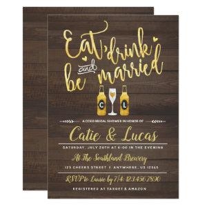 Eat Drink and Be Married Bridal Shower Invitation starting at 2.66
