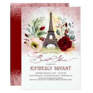 Eiffel Tower Vintage Paris Pink Gold Bridal Shower Invitation starting at 2.51