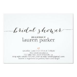 Elegant and Simple Bridal Shower Invitation starting at 2.56