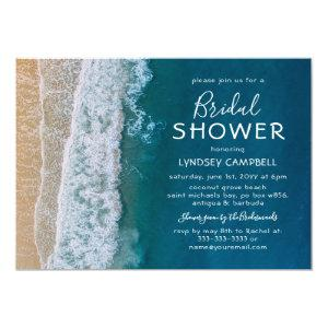 Elegant Beach Tropical Ocean Bridal Shower Invitation starting at 2.40