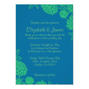 Elegant Blue And Green Wedding Invitations starting at 2.66