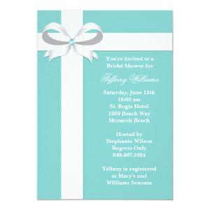 Elegant Blue Bridal Shower Invitation starting at 3.24