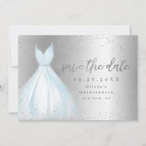 Elegant blue dress save the date quinceanera starting at 2.51