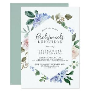 Elegant Blue Hydrangea Bridesmaids Luncheon Invitation starting at 2.26
