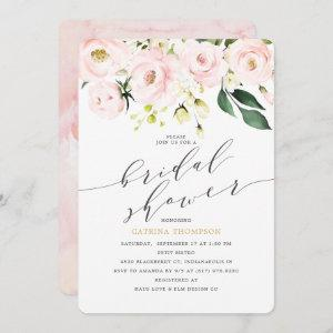 Elegant  Blush Floral and Eucalyptus Bridal Shower Invitation starting at 2.86