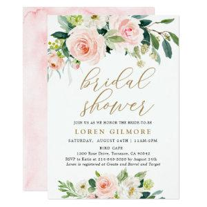 Elegant Blush Watercolor Floral Bridal Shower Invitation starting at 2.36