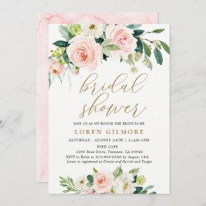 Elegant Blush Watercolor Floral Bridal Shower Invitation starting at 2.61
