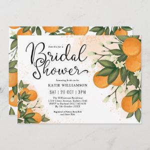 Elegant Botanical Citrus Orange Bridal Shower Invitation starting at 2.56