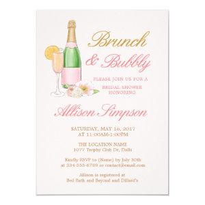 Elegant Brunch and Bubbly Bridal Shower Invitation starting at 2.50