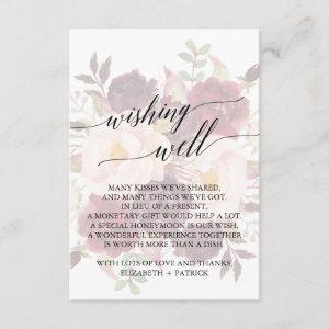 Elegant Calligraphy   Faded Floral Wishing Well Enclosure Card starting at 1.91
